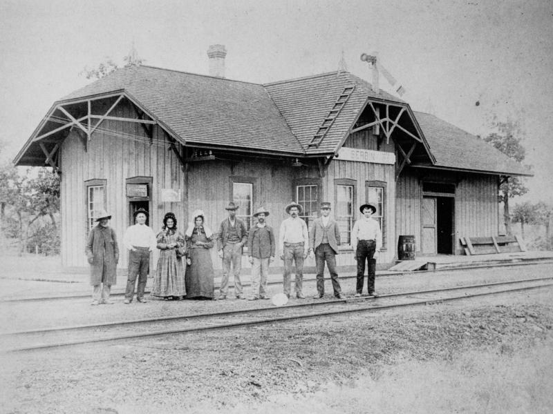 San Antonio & Aransas Pass Depot in New Serbin About 1905